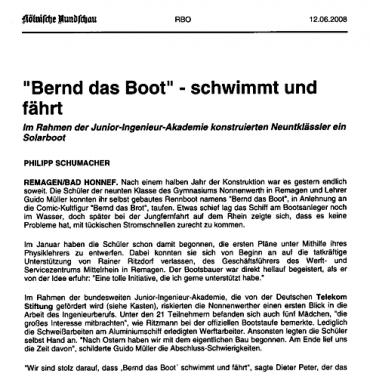 """Taufe von """"Bernd, das Boot"""""""